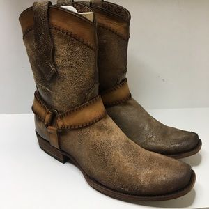 Corral harness leather western Boots square toe